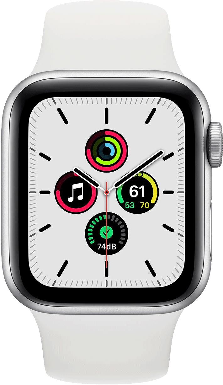 Купить часы Apple Watch SE Корпус из алюминия серебристого цвета • Спортивный ремешок в Туле